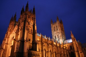 Canterbury Cathedral at dusk