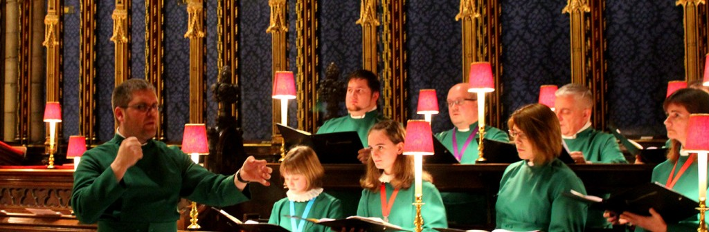 Conducting a rehearsal prior to Evensong in Westminster Abbey